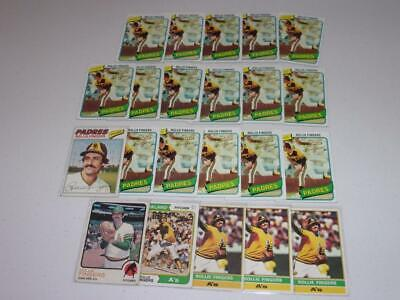 1973-1980 Topps lot of 22 ROLLIE FINGERS cards! A'S! HOF! MUST SEE! BV$$$