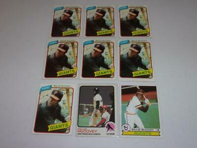 1973-1980 Topps lot of 9 WILLIE MCCOVEY cards! GIANTS! HOF! MUST SEE! BV$$$