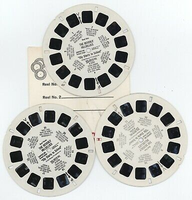 Viewmaster Reels and Booklet B 570 THE BEVERLY HILLBILLIES Mint Free Shipping