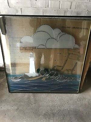 Stained Glass Double Glazed Window Panel - Lighthouse