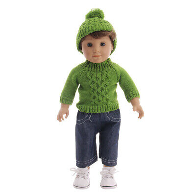 "Hot Handmade Accessories Fits 18"" Inch American Girl Doll Clothes Sweater+pants"