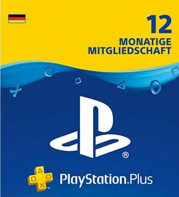 PS Play Station PlayStation Plus 12 Monate Mitgliedschaft Code