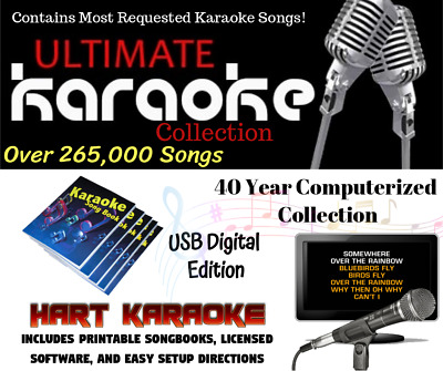 Karaoke Music Collection Hard Drive - Includes Software 2 Year Warranty