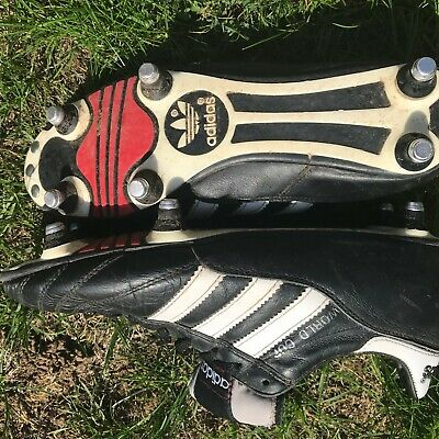 ADIDAS WORLD CUP SG football boots; size 6; blacked out