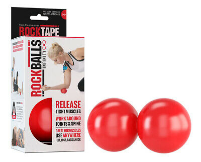 RockBalls Pair by Rocktape CrossFit Sports Massage Exercise Textured Yoga Physio