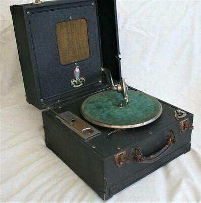 Vintage Unusual 1920s Dulcetto Portable Gramophone in Working Order