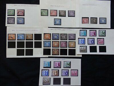 Gb Mint & Used Postage Due Stamps Issued Between 1914- 1970 As17