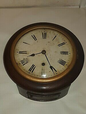 Antique Winterhalter & Hoffmeier Oak Cased Dial Timepiece- Wall Clock