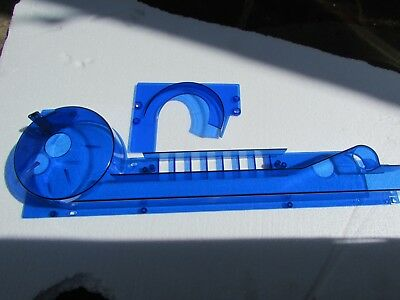 Williams Taxi Pinball Spinout Ramp with Ball Retainer !  NEW! BLUE CUSTOM LOOK