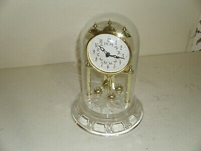 Clear Glass Dome Mantle Clock