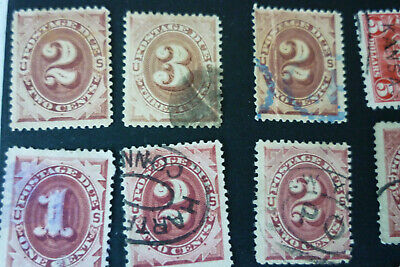 91 postage due US  stamps   some mnt mostly used   see photos
