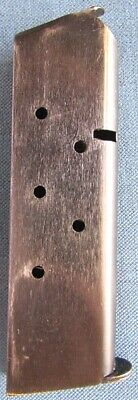 "Original WWII US M1911A1 7-round .45 pistol magazine by ""Scovill Mfg. Co."""