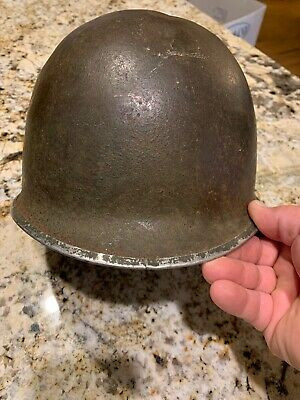 WWII WW2 US M1 Helmet Front seam fixed Bale Early War