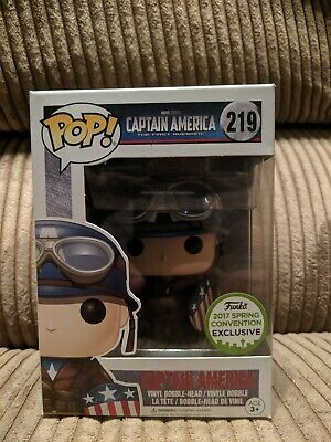Funko Pop! WWII Captain America 2017 ECCC Exclusive #219 Spring Convention
