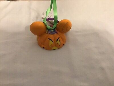 Disney Parks Mickey Mouse Ear Hat Pumpkin Light-Up Ornament Halloween Candy