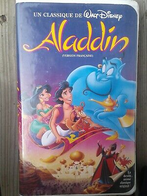 Disney Black Diamond VHS Aladdin Original French Version