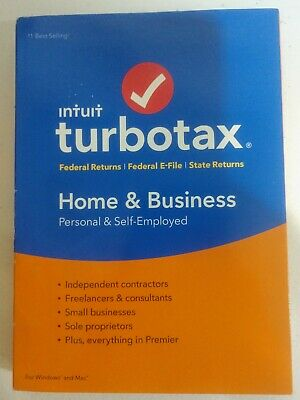 Genuine 2018 Intuit TurboTax Home & Business Federal & State Windows & Mac - NEW