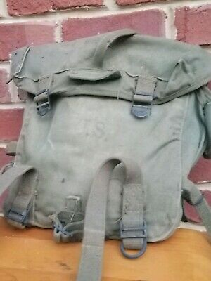 Vintage WW2 US Military Army USMC Combat Field Pack, M-1945 M45 WWII