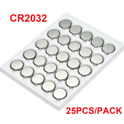 25pcs/pack CR2032 CR 2032 3V Button Cell Battery for Watch Toys Remote Set
