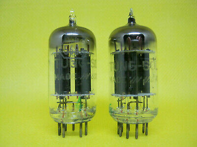 Matched pair TUNG SOL JTL5687WA black plate D getter tube valve valvola nos 2332