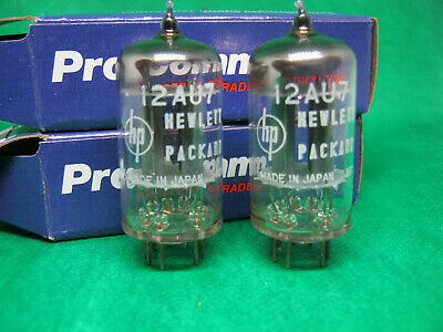 Matched pair HP - NEC ECC82 12AU7 made in Japan very rare D getter tube valvola