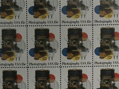 1978, 15 Cent Stamps, Scott # 1758, Photography. Sheet
