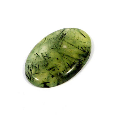 102 Cts. 100% Natural Green Needle Prehnite Rutile Cabochon Gemstone ARM18438