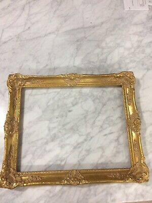"""Vintage Painted Gold Wood Ornate Picture Frame for 14 1/4 x 11 1/4"""""""