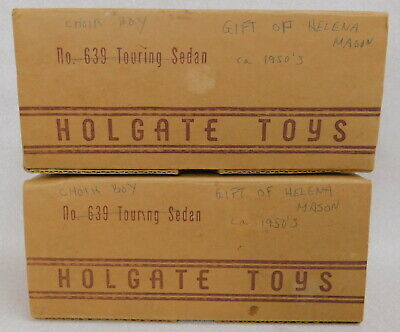 Holgate Brothers Toys Touring Sedan 639 Empty Box for 1939 vintage wood pull car