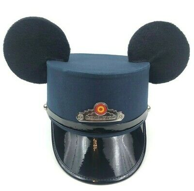Walt Disney Conductor Hat Mickey Mouse Ears Disneyland Souvenir Red Car Trolley