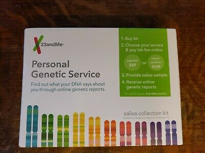 23andme 23 and me Personal Genetic Service DNA Saliva Kit For Ancestry & Health
