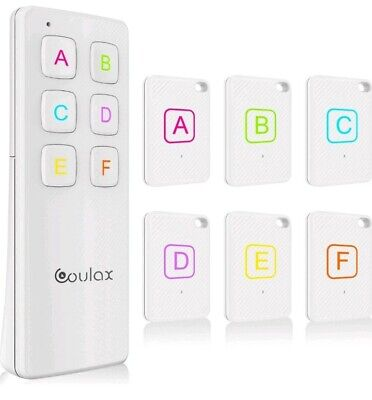 Key Finder, COULAX Wireless Key Tracker with Remote Control 6 Receivers RF Item
