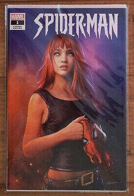 🔥 SPIDER-MAN #1 SHANNON MAER MARY JANE TRADE VARIANT AMAZING NM Presale Marvel!