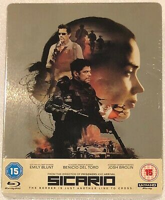 Sicario 4K Steelbook - UK Exclusive Limited Edition 4K and HD Blu-Ray