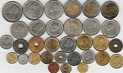 32 different foreign coins from THAILAND