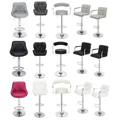 2X Faux Leather PU Bar Stools Breakfast Bar Chair Kitchen Stool Swivel Barstool