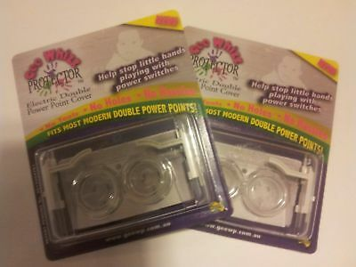 """""""Gee Whizz Protector"""" Set of TWO ( Safety double power point cover)"""