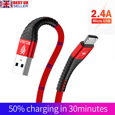 1.2M 2M Long Micro USB Data Sync Charger Cable Lead For Samsung Android Phones