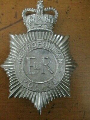 Great Brittian Metropolitan Police Original Hat Badge, Vgc