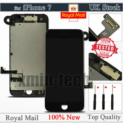 "For iPhone 7 Black Screen 4.7"" LCD 3D Touch Display Digitizer Replacement Camera"