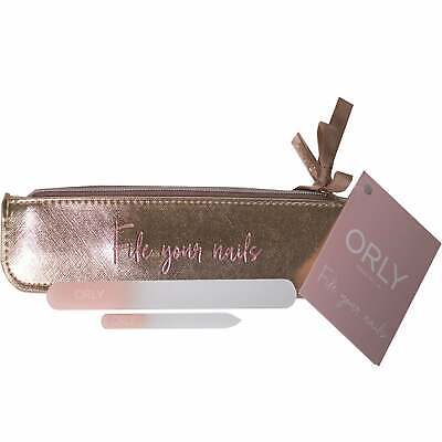 Orly Deluxe Crystal Nail File Duo Set (Rose Gold)