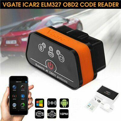 Vgate iCar2 EOBD OBD2 ELM327 Auto Interface Bluetooth3.0 Android Diagnose Gerät