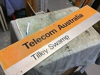 Telecom painted and screened sign Tilley Swamp