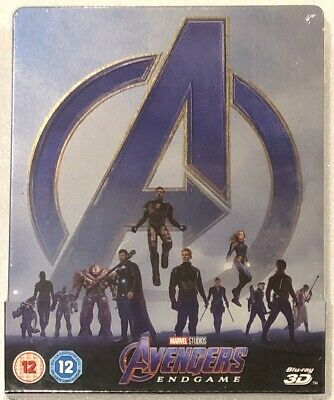 Avengers Endgame 3D - UK Exclusive Limited Edition Blu-Ray **Region Free**