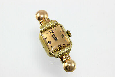 Art deco goldene Damenuhr 14K Gold Uhr 585 alte Armbanduhr antik ladies watch