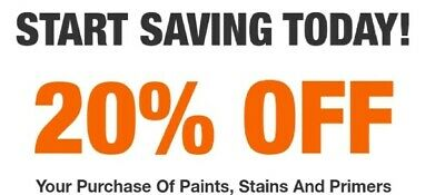Home Depot HD 20% Paints + Stains + Primers