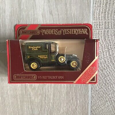 Matchbox Models Of Yesteryear Y-5 1927 Talbot Van Evaluator Club Limited Edition