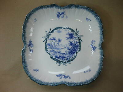 Antique Wedgwood Blue & White Transfer Ware Dish ~ Pyramids & Ruins Pattern