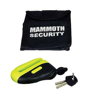 Mammoth Motorcycle Motorbike Yellow Blast Disc Lock With 6mm Pin