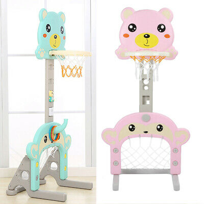 UK Free Standing Basketball Hoop Net Kids Backboard Stand Rack Set Adjustable